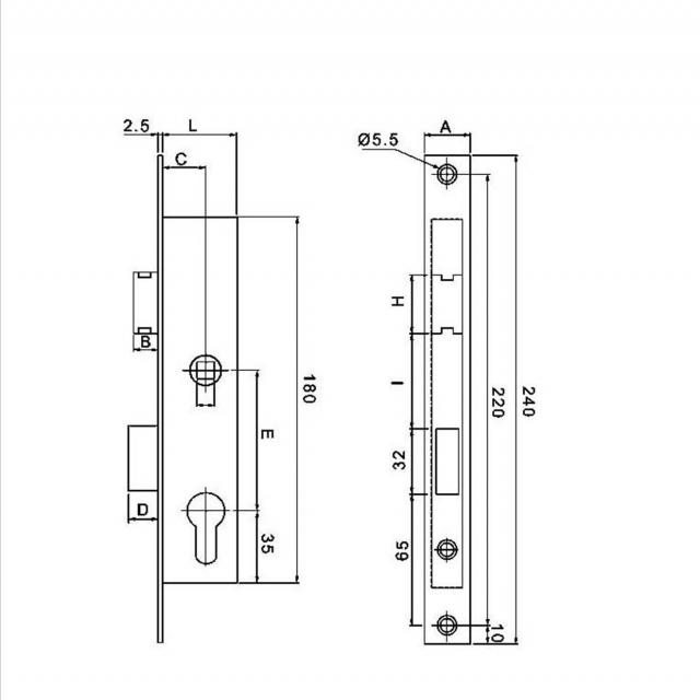 Serrure Metalux 7 36 4