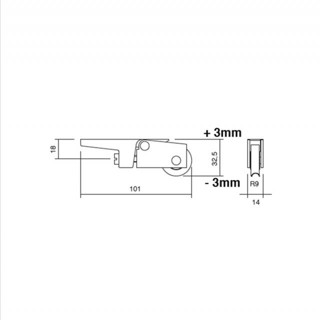 Roulette galet de baie coulissante 2