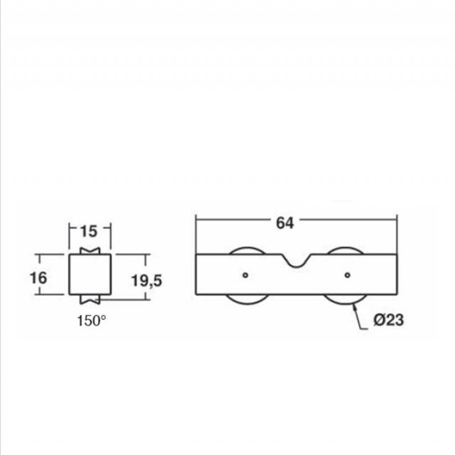 Roulette galet pour baie coulissante Voir ref 1099 2