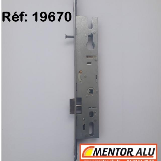 Serrure MULTIPOINT à relevage , coffre de 45 mm 2