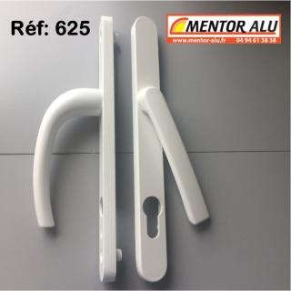Poignée EXTRA PLATE double à clef fenêtre PVC