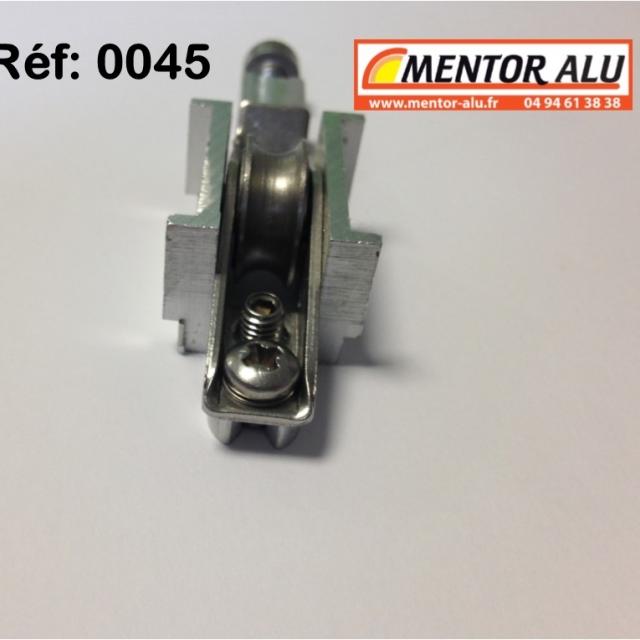Galet  roulette inox  possibilité de démonter la piece centrale voir photo 3
