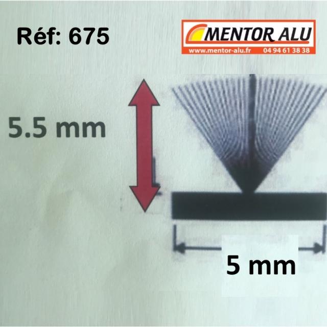 Joint brosse pour fenêtre et  baie coulissante ancienne serie. L 5.5mm 2
