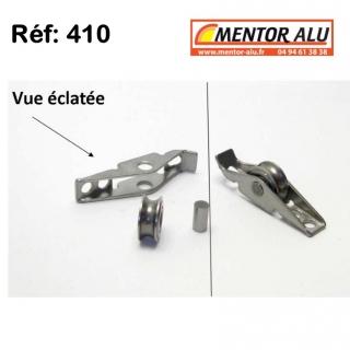 Galet  roulette inox  kit de reparation - Vendu à l'unité