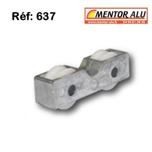 Roulette galet pour baie coulissante Voir ref 1099 1