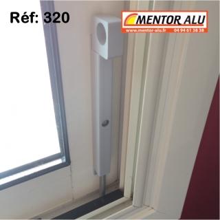 Verrou serrure en applique pour fenêtre et baie coulissante