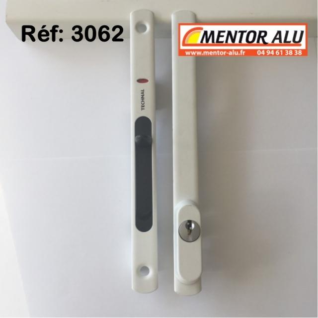 TECHNAL Serrure de coulissant Technal 3062 à clé 1