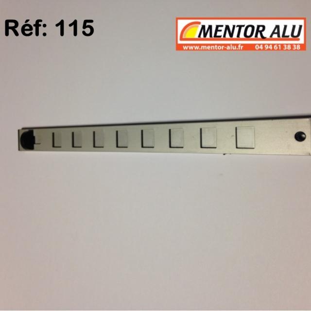 Grille d'aération aluminium Réglable 275 x 22 mm  1