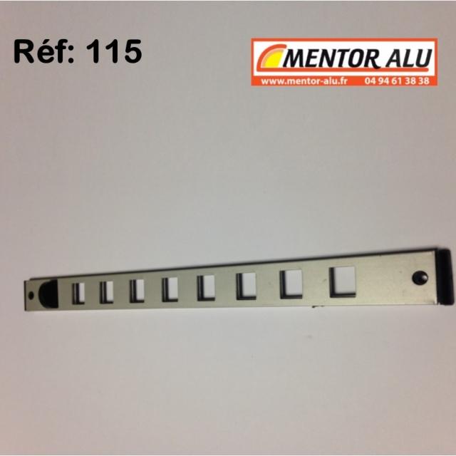 Grille d'aération aluminium Réglable 275 x 22 mm  2