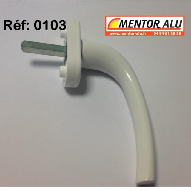 Poignée  pour fenêtre PVC blanche Haute qualité. 2