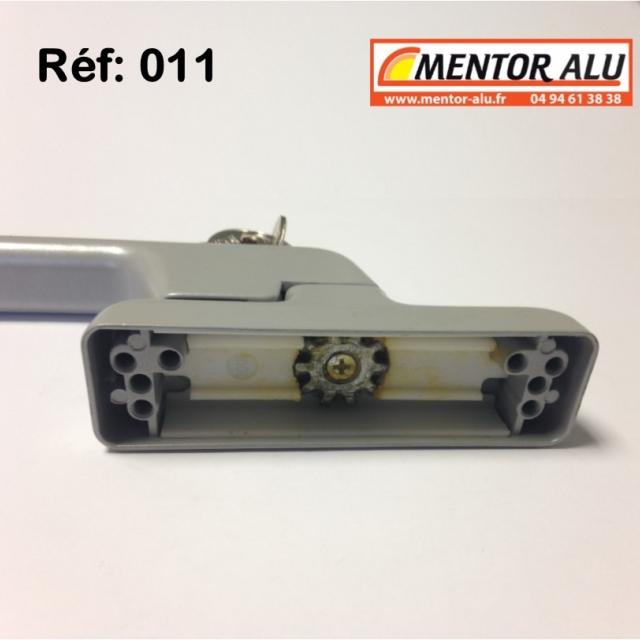 Poignée crémone à clé pour porte et fénêtre aluminium  3
