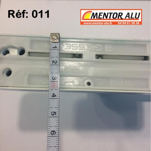 Poignée crémone à clé pour porte et fénêtre aluminium  4