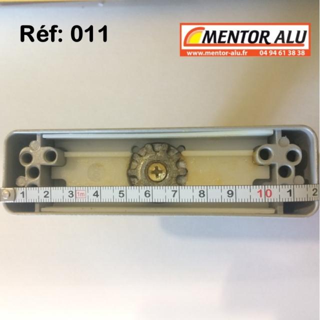Poignée crémone à clé pour porte et fénêtre aluminium  5