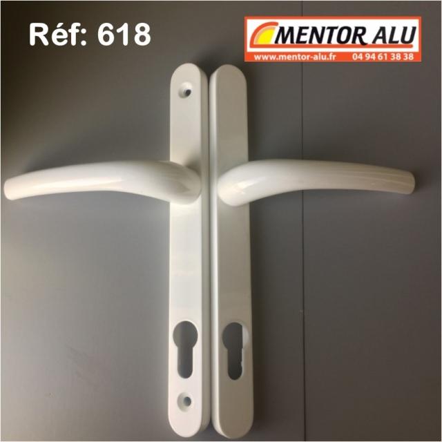Poignée double à clef fenêtre PVC 1