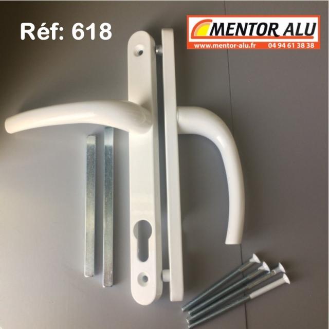 Poignée double à clef fenêtre PVC 2