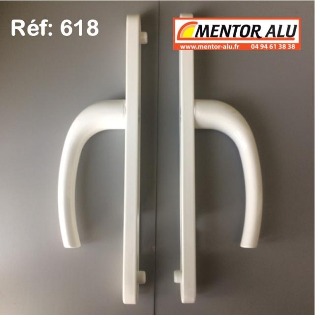 Poignée double à clef fenêtre PVC 3