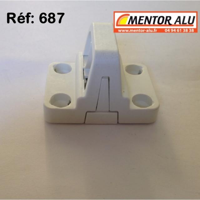 Loqueteau vasistas OB PVC blanc 1