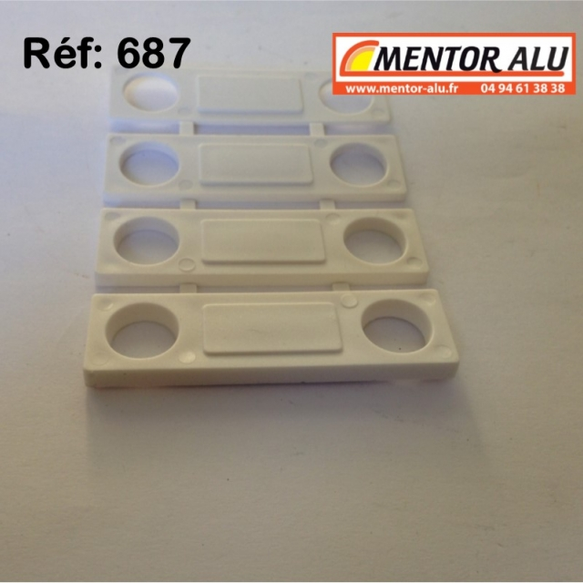 Loqueteau vasistas OB PVC blanc 2