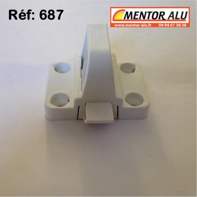 Loqueteau vasistas OB PVC blanc 3