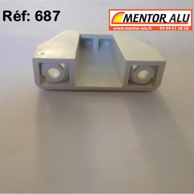Loqueteau vasistas OB PVC blanc 4