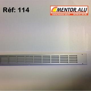Grille d'aération aluminium non réglable 475 x 30 mm