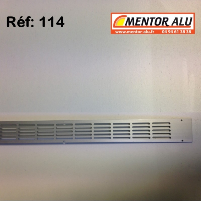 Grille d'aération aluminium non réglable 475 x 30 mm  1