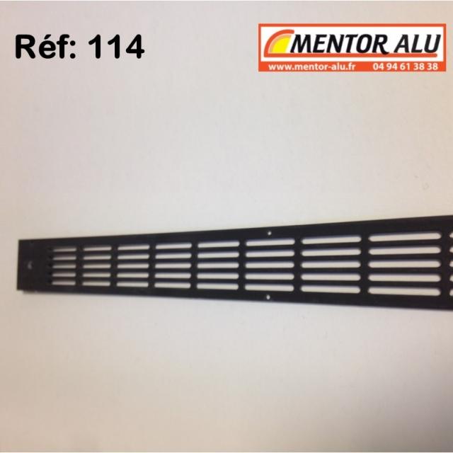Grille d'aération aluminium non réglable 475 x 30 mm  2