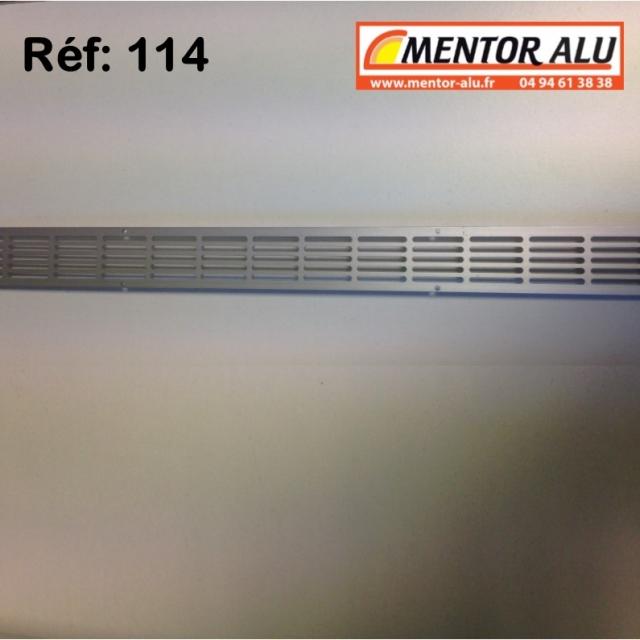Grille d'aération aluminium non réglable 475 x 30 mm  3
