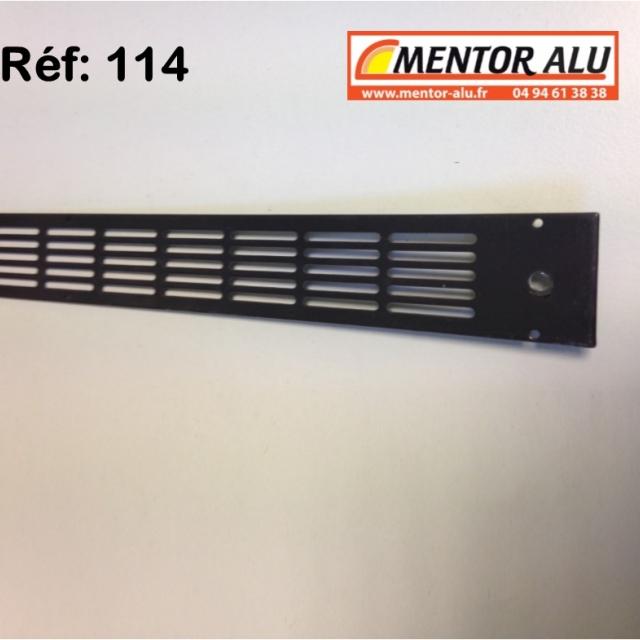 Grille d'aération aluminium non réglable 475 x 30 mm  4