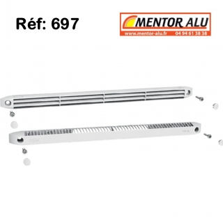 Grille de ventilation pour fenêtre PVC 30m3 /h int/ext