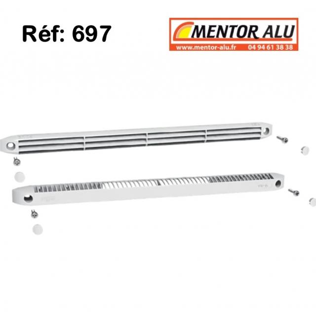Grille de ventilation pour fenêtre PVC 30m3 /h int/ext 1