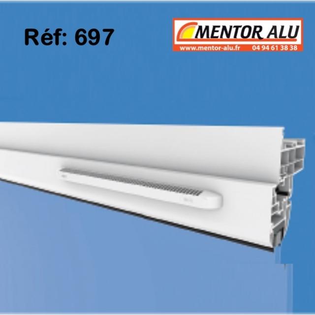 Grille de ventilation pour fenêtre PVC 30m3 /h int/ext 2