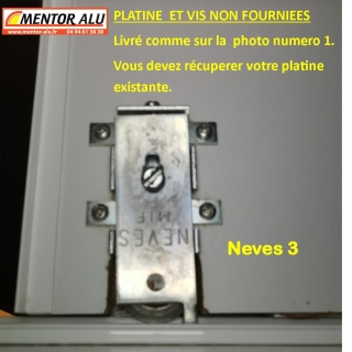 NEVES roulette porte de placard NEVES 3  (la paire)
