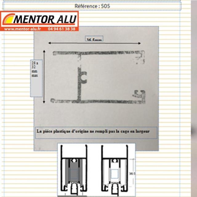 Roulette  de baie vitrée coulissante simple ou double ALCAN/ALKEA 2