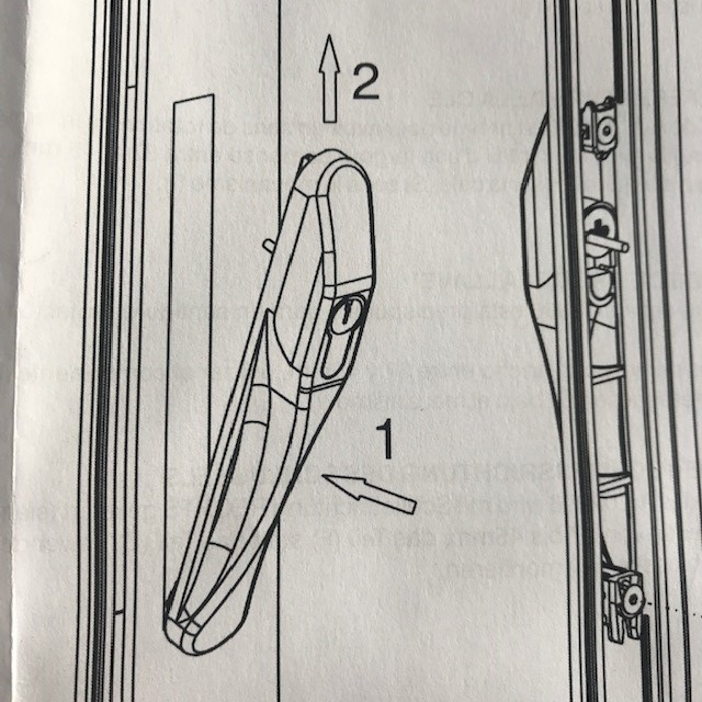 Serrure de baie coulissant à clé  avec poignée compatible VIAL 2
