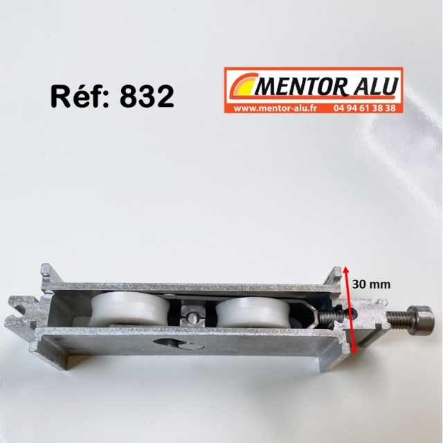Galet roulette renovation hauteur 30 mm 2