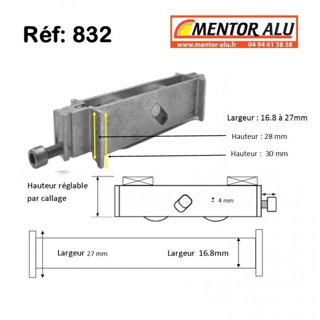Galet roulette renovation hauteur 30 mm 1