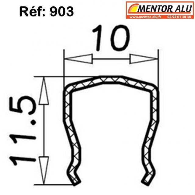 Rail inox pour baie vitrée coulissante  1