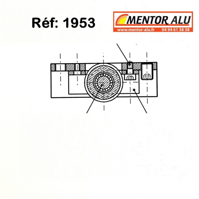 TECHNAL  1953  galet roulette reférence 1953  2