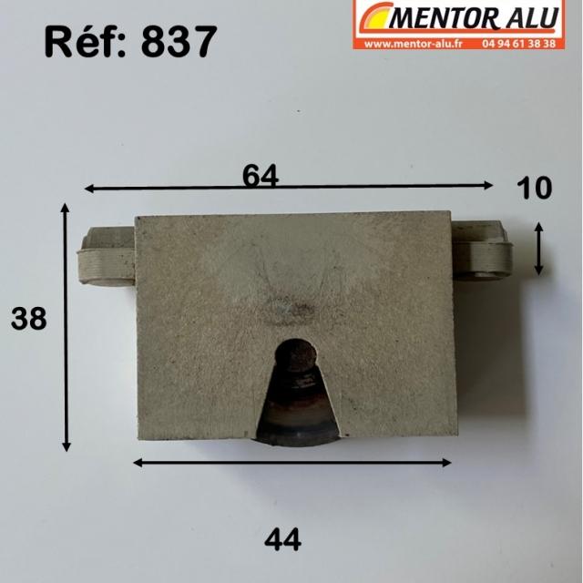 Galet/Roulette baie vitrée coulissante 1