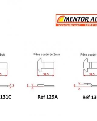 MENTOR | Alu - PVC - Stores -Pênes/Crochets de fenêtre coulissante