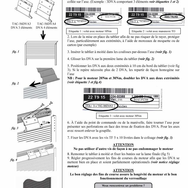 Accroche volet Profalux DVA 3 étages 3