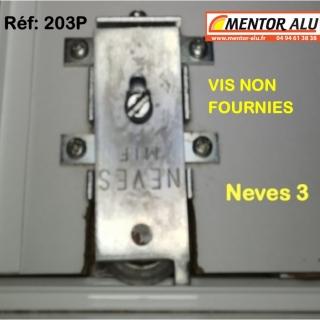 NEVES  roulettes + PLATINES  porte de placard NEVES 203