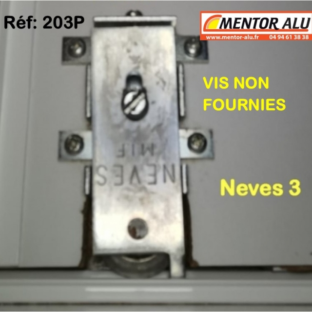 NEVES  roulettes + PLATINES  porte de placard NEVES 3  (la paire)  3