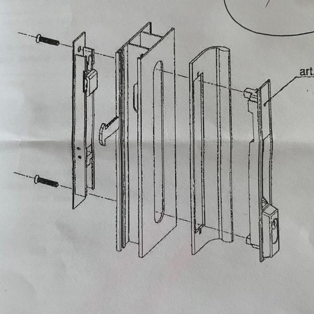 Serrure de baie vitrée coulissante à clé avec poignée - rénovation - 3