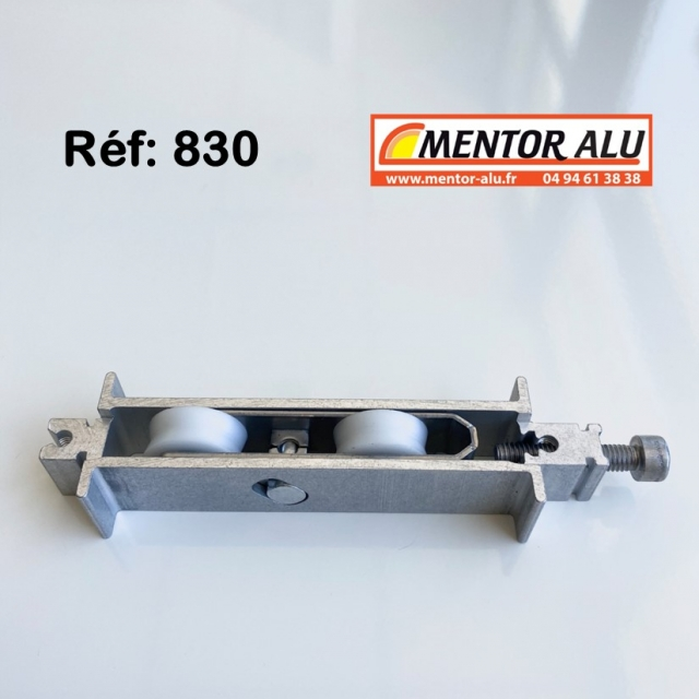 Roulette baie coulissante  rénovation  toutes marques petit modèle largeur 16.8 mm  à 30 mm Hauteur 19 mm 2