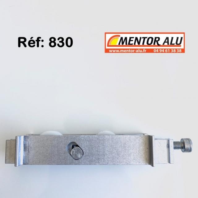 Roulette baie coulissante  rénovation  toutes marques petit modèle largeur 16.8 mm  à 30 mm Hauteur 19 mm 3