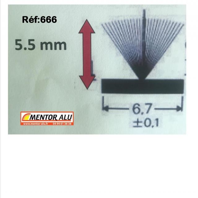 Joint brosse pour fenêtre et  baie coulissante VIAL  L 6.7mm  2