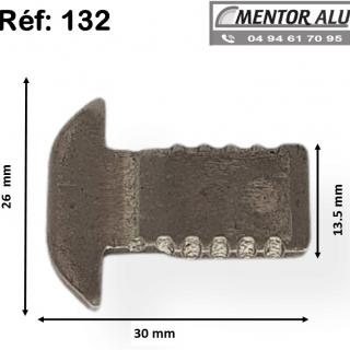 Pêne crochet 132 pour serrure savio 51 -52-53