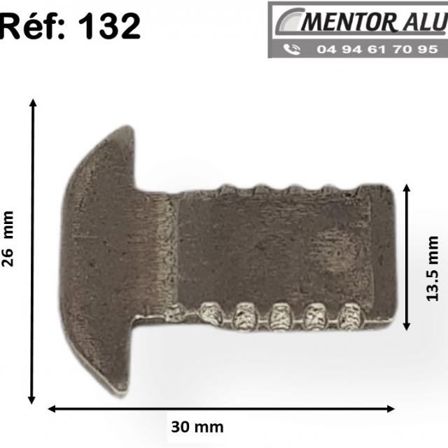 Pêne crochet 132 pour serrure savio 51 -52-53 1